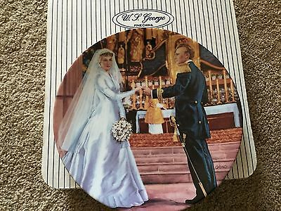 SOUND OF MUSIC SILVER ANNIVERSARY SERIES COLLECTORS PLATE Maria's Wedding Day