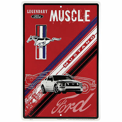 Ford Mustang Legendary Muscle Embossed Metal Sign