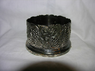 Wine/Champagne Bottle Holder Coaster Holiday Imports Japan Silverplate Vintage