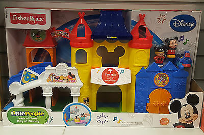 Fisher Price Little People Mickey Mouse Magic Fun Park Playset *New*