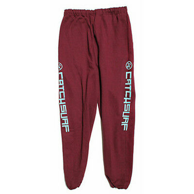 "Catch Surf 'get Wet Sweats' Mens Tracksuit Bottoms Trousers Large 32""~38"" Maroon"