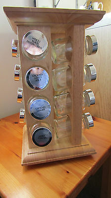 Marks & Spencer Home Carousel Spice Rack with 16 Spice Jars in Ex.Condition