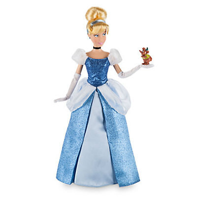 "NEW Disney Store Cinderella Classic 12"" Doll with Gus Figure"