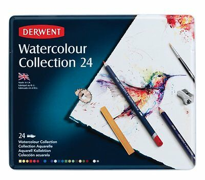Watercolour Collection Tin Watersoluble Mixed Media with Accessories - Set of 24