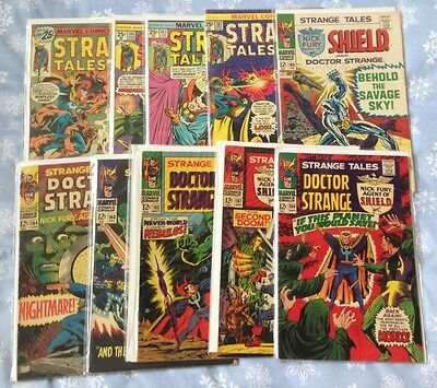 Dr. Strange Comic Book Lot--Strange Tales Lot 3--10 issues from 160-185