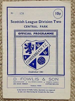COWDENBEATH v ALBION ROVERS Scottish Cup 1979/80