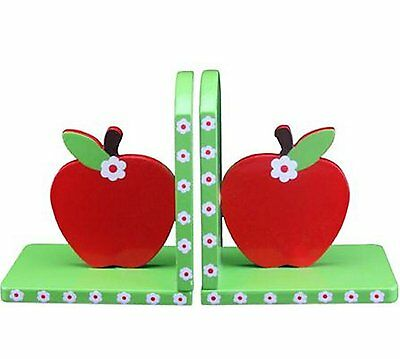 Gisela Graham Red Apple Children's Bookends Cute Apple Book Ends Kids Bedroom