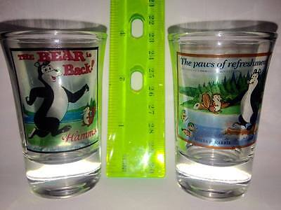 Hamms Beer Bear Collector's Shot Glasses in Mint !!