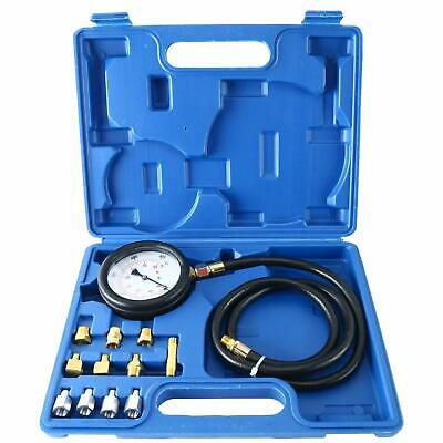 Auto Engine Oil Pressure Tester Gauge Diagnostic Tester Tool Kit 500PSI W/Case
