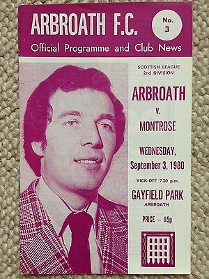 ARBROATH v MONTROSE Scottish League Two 1980/81