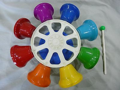Rare Vintage FMT Roundbell Carousel 8 Bell Instrument Percussion Music Group