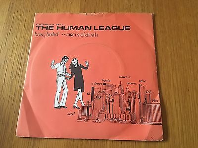 """Human League - Being Boiled - 1978 7"""" P/s - Buy 3 7""""s Pay Post For 1 Worldwide"""