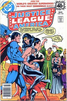 JUSTICE LEAGUE OF AMERICA 164 1st SERIES DC 40 CENTS AMERICAN COMIC
