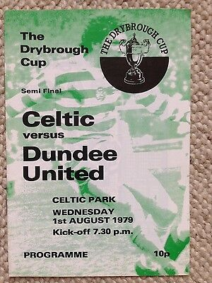CELTIC v DUNDEE UNITED Dryborough Cup Semi Final 1979/80