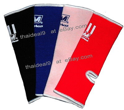 MUAY THAI KICK BOXING ANKLE WRAP GUARD PROTECTOR NationMan  Black Blue Pink Red