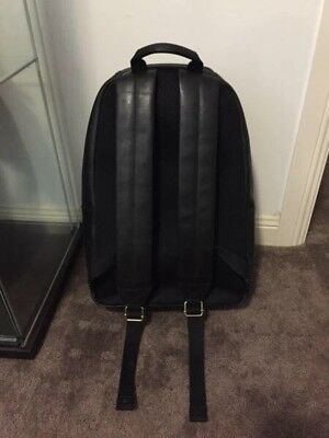 Fossil Black Leather Backpack