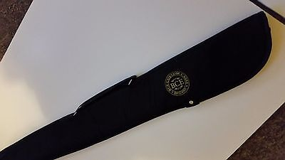BCE Black Padded Soft 2pc Snooker Pool Cue Case 7043 - NEW