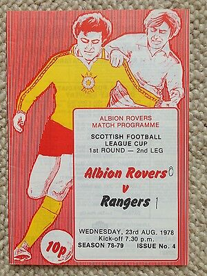 ALBION ROVERS v RANGERS League Cup 1978/79