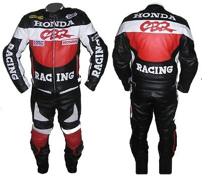 HONDA-CBR-2 Piece MOTORBIKE LEATHER SUIT,JACKET/TROUSER RACING MOTORCYCLE(Rep)