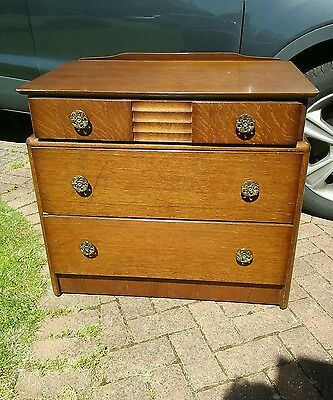 Quite Rare Vintage Stag Chest of Three Drawers - Oak Satin 87346