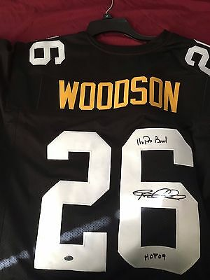 Autographed/Signed ROD WOODSON Pittsburgh Steelers Football Jersey JSA COA Auto