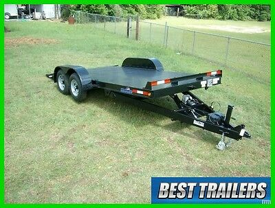 2017 hawke 7 x 18 10k tilt New equipment flatbed bobcat trailer all steel w LED
