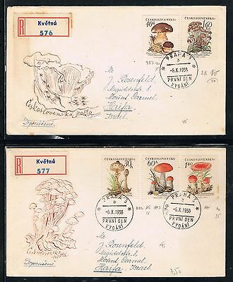 Czechoslovakia covers stamp mushroom Collection
