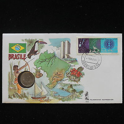 ZS-AA067 BRAZIL - Numisbrief, 1991 Fdc, Folklore, Animals Cover