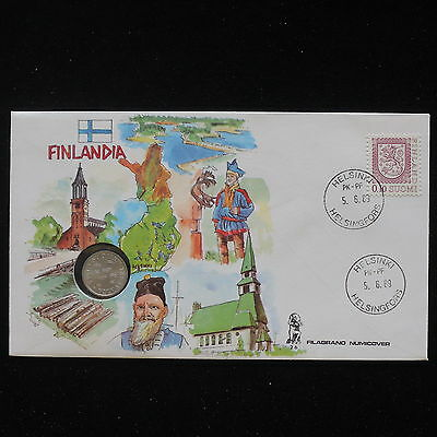 ZS-AA075 FINLAND - Numisbrief, 1983 Fdc, Folklore, People Cover