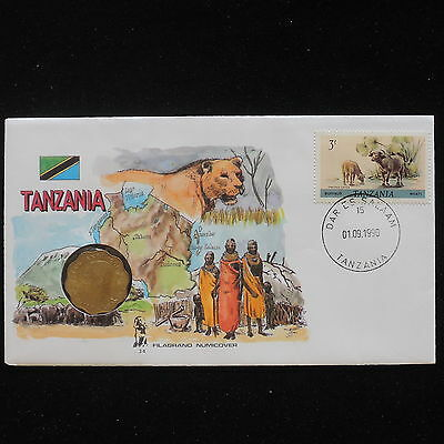 ZS-AA078 TANZANIA - Numisbrief, 1990 Fdc, Folklore, Animals Cover