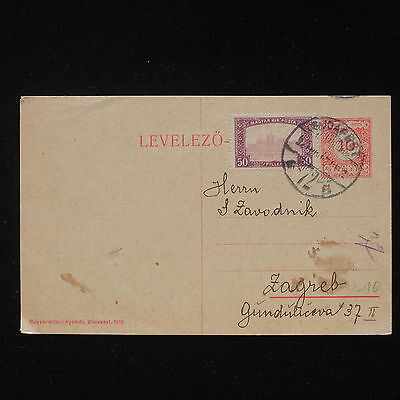 ZS-AA188 HUNGARY - Postcard, From Budapest To Zagreb