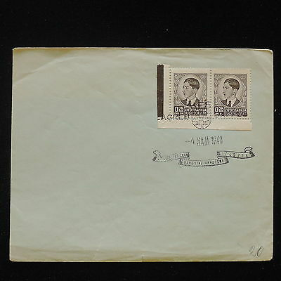 ZS-AA457 YUGOSLAVIA - Cover, 1940 Pair Stamps