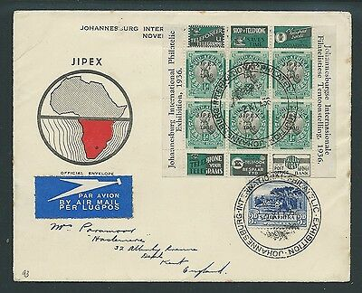 South Africa 1936 Jipex Official Envelope Interesting!