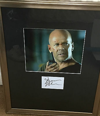 Bruce Willis Hand Signed Framed Autograph In Person