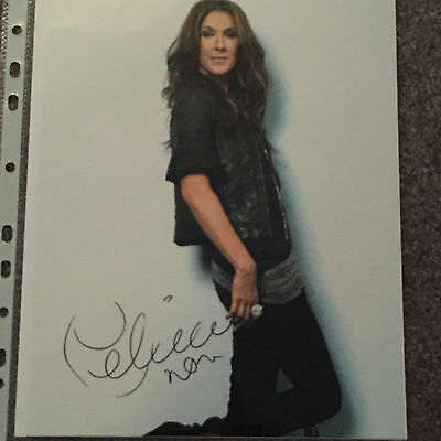 Celine Dion Signed 10X8 Photo In Person