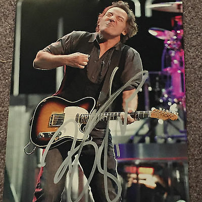 Bruce Springsteen Signed 10X8 Photo In Person