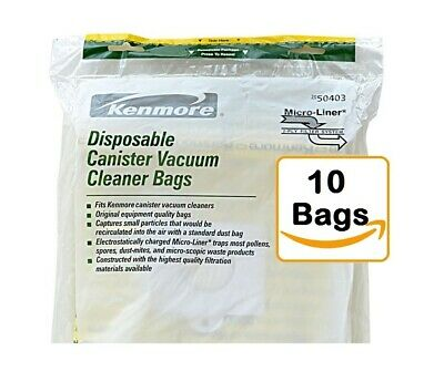 Kenmore/Sears Disposable Canister Vacuum Bags 50403, (Part number 20-50403)
