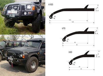 4x4 Offroad UNIVERSAL WHEEL TRIM ARCH EXTENSIONS  FENDER FLARES 7cm 2 70mm  K70