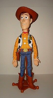 "Toy Story Collection 16"" Talking Pull string Woody with Stand."