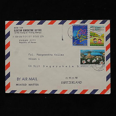 ZS-AB501 S. KOREA - Airmail, From Pusan City To Degersheim Switzerland Cover
