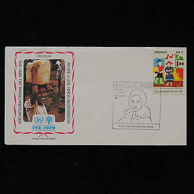 ZS-AB504 URUGUAY - Fdc, 1979 International Year Of The Child Cover