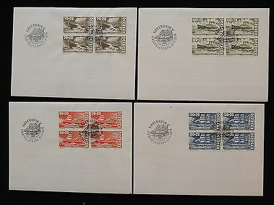 ZS-AB559 DENMARK - Ships, 1976 Fdc, Lot Of 4 Cover