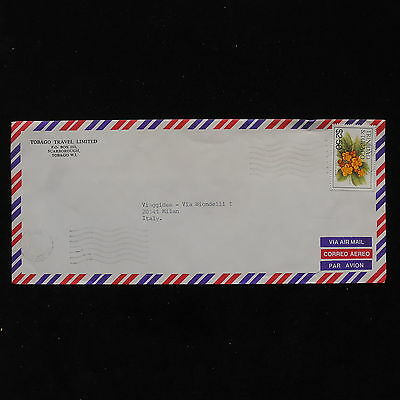 ZS-AB840 TRINIDAD & TOBAGO IND - Flowers, Airmail To Milan Italy Cover