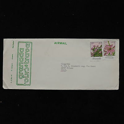 ZS-AB865 GRENADA IND - Flowers, Airmail To Milan Italy Cover