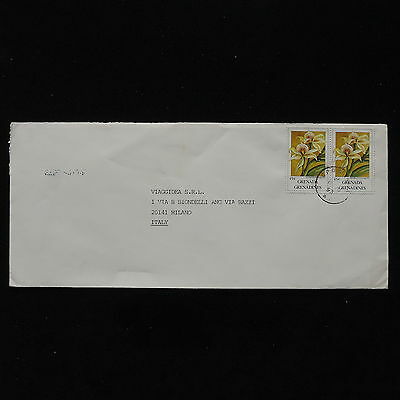 ZS-AB867 GRENADA IND - Flowers, Airmail To Milan Italy Cover