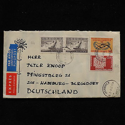 ZS-AB959 FINLAND - Express, 1965 Airmail To Hamburg Germany Cover