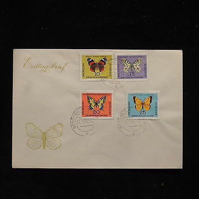 ZS-AB967 GERMANY/DDR - Butterflies, 1964 Fdc Cover