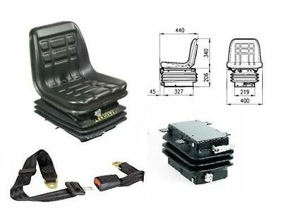 Cobo Gt60 Tractor Seat With Spring + Guides +  Safety Belts