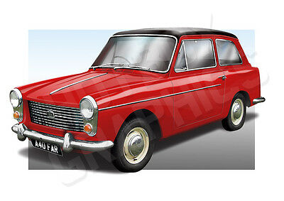 Austin A40 Farina Print - Personalised Illustration Of Your Car