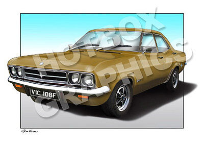 Vauxhall Victor Fd Print - Personalised Illustration Of Your Car